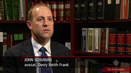 John Schuman, Certified Specialist, Toronto Lawyer, appearing on Television