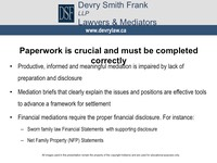 Paperwork is crucial and must be completed correctly