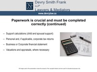 Support calculations (child and spousal support)