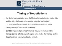 Timing of Negotiations
