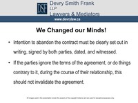 We Changed our Minds!